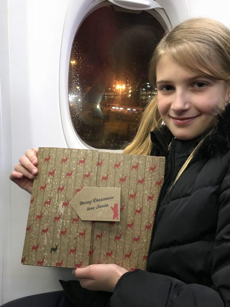 Santa flight to lapland
